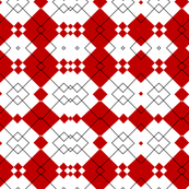 Red & White Geometric Abstract Design Pattern