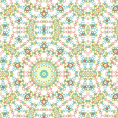 Colorful Retro Inspired Ornamental Pattern Design