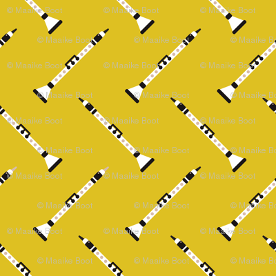 Retro clarinet flute music design