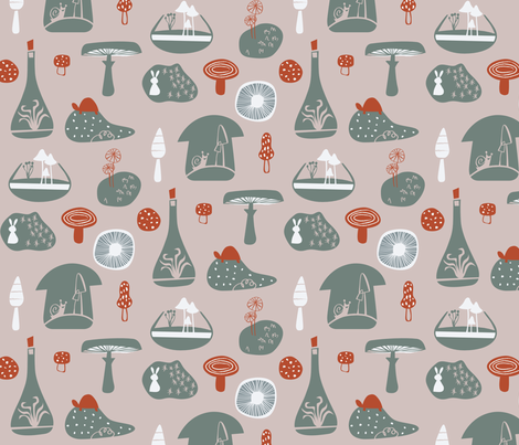 Mushroom Land fabric by chris_jorge on Spoonflower - custom fabric