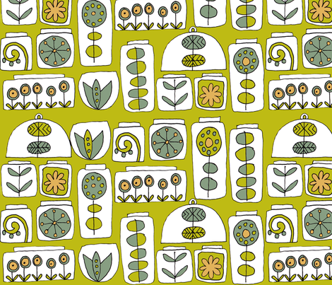 indoor gardens fabric by weejock on Spoonflower - custom fabric