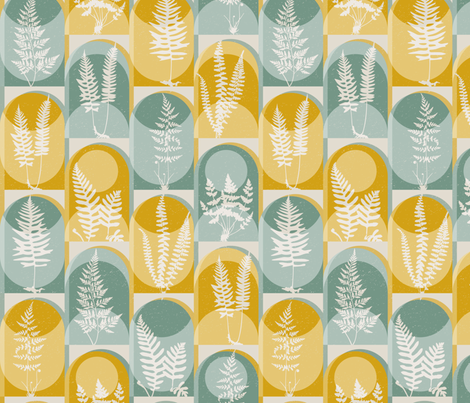 Fern Fever fabric by mariaspeyer on Spoonflower - custom fabric