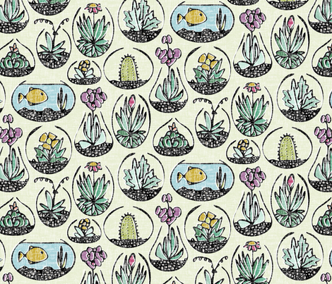 glass bowls of joy fabric by scrummy on Spoonflower - custom fabric