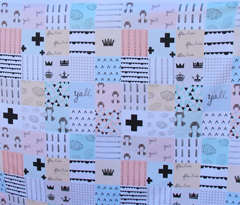 pastel cheater quilt