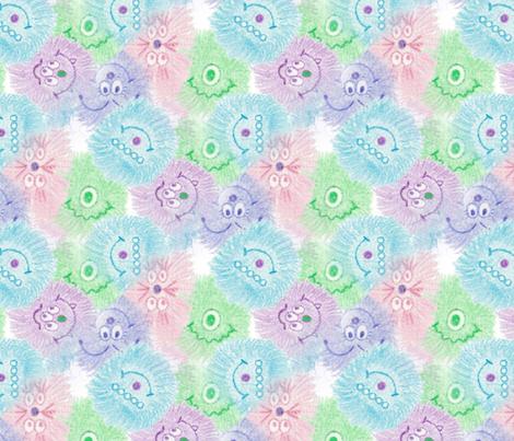 Monsterpatternlarger fabric by mgdoodlestudio on Spoonflower - custom fabric
