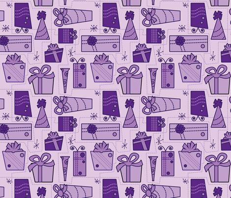 Gifts (purple) fabric by studiofibonacci on Spoonflower - custom fabric