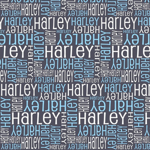Personalised Name Design - Aniseed Blue White