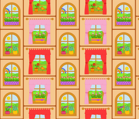 Terrarium fabric by alenkas on Spoonflower - custom fabric