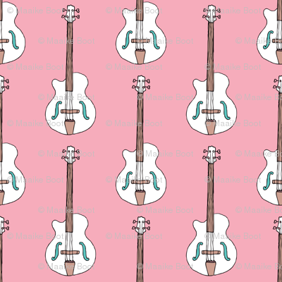 Bass guitar music design for girls