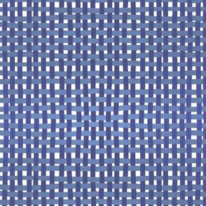 Woven indigo and lilac on white by Su_G