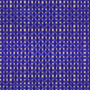 Woven purple, blue and indigo on a pale gold ground, SMALL