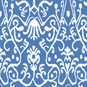 Gem Blue Ikat Floral