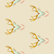 Mint and Coral Deer Bumper