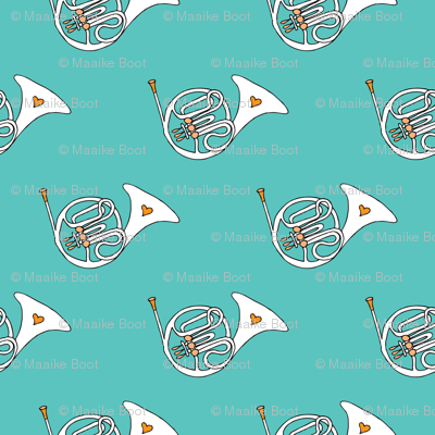 Trumpet doodle jazz illustration music pattern