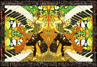 Music, Dance and the Arts lumbar pillow cover