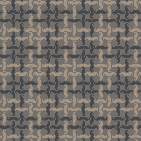 mini mustache tweed - ancient grey