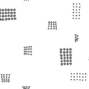 shape blocks - black and white