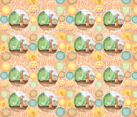 jackalopearium fabric by bishopart on Spoonflower - custom fabric