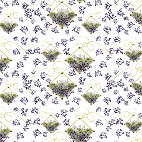 Hanging Pretty Terrariums fabric by judyjo on Spoonflower - custom fabric