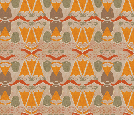 Beards and Mustaches fabric by vinpauld on Spoonflower - custom fabric