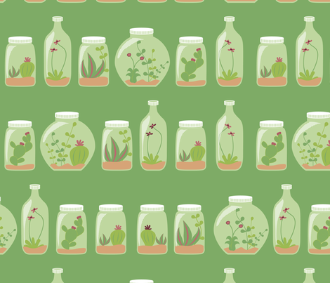 Gardens in bottles fabric by ebygomm on Spoonflower - custom fabric