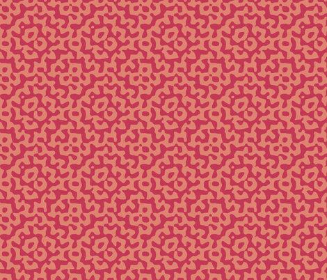 tribal diamond in red and blush