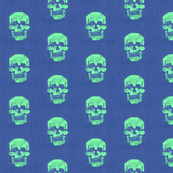 Skull in Sea Foam with Violet background