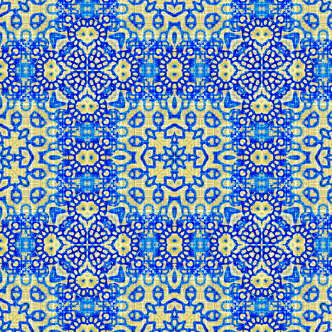Folk texture in blue fabric by joanmclemore on Spoonflower - custom fabric