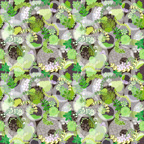 Mossy Mint Chip fabric by graceful on Spoonflower - custom fabric