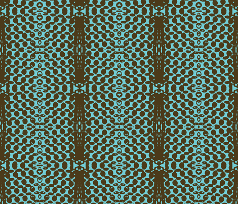 Dark Star Entering the Neutral Zone, 2-Aqua fabric by susaninparis on Spoonflower - custom fabric
