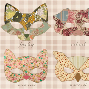 Retro Animal Masks