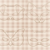 Animal Mask Pattern