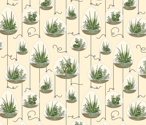 hanging terrariums fabric by alison123 on Spoonflower - custom fabric
