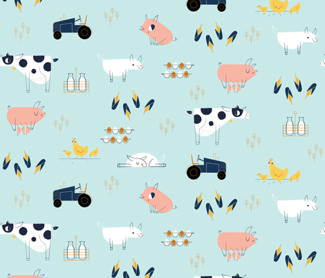 farm_sf_Jillian fabric by jillianevelyn on Spoonflower - custom fabric