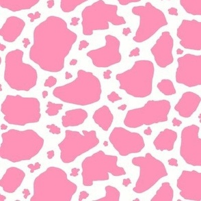 pink and white cow spots