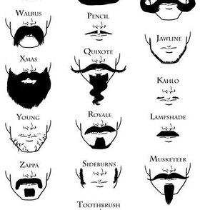 Beards and Mustaches A through Z