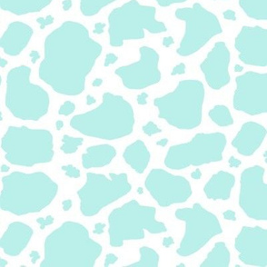 aqua and white cow spots