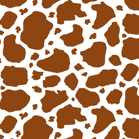 brown and white cow spots fabric by amy_g on Spoonflower - custom fabric