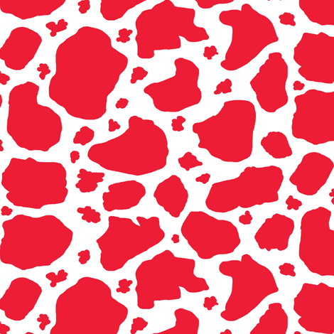 red and white cow spots fabric by amy_g on Spoonflower - custom fabric