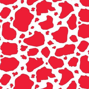 red and white cow spots