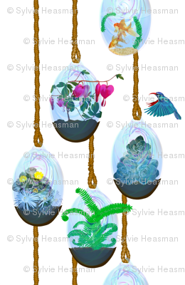 Hanging Glass Terrariums.