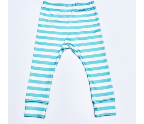 Aqua Stripes 1/2 Inch Horizontal