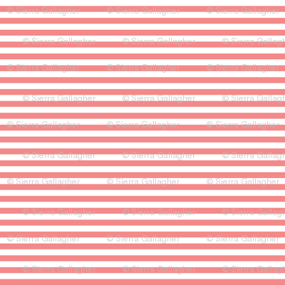 Coral Stripes 1/2 Inch Horizontal