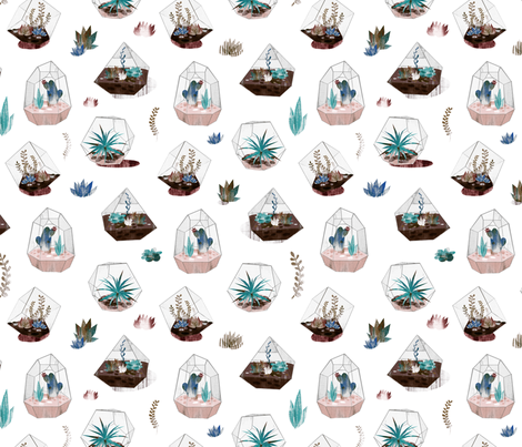 Terrariums! fabric by wideeyedtree on Spoonflower - custom fabric