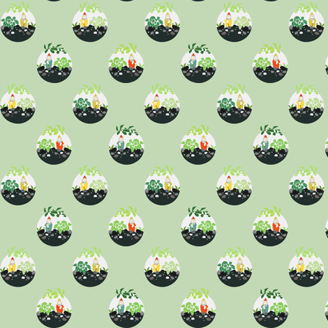 Terrariums fabric by axelle_design on Spoonflower - custom fabric