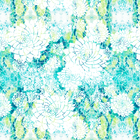 summery succulents fabric by rubydoor on Spoonflower - custom fabric