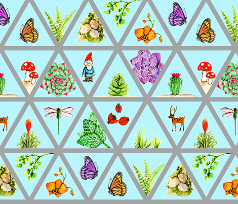 The Terrarium Kit fabric by mruna on Spoonflower - custom fabric