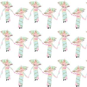 Shabby Chic dancing parasols