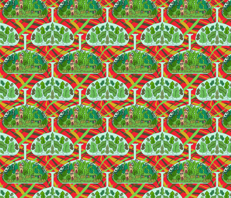 Terrarium fabric by linsart on Spoonflower - custom fabric