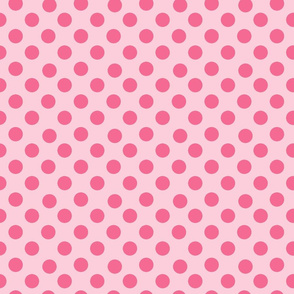 Pink and Pink Polka Dots